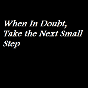 When In Doubt, Take the Next Small Step