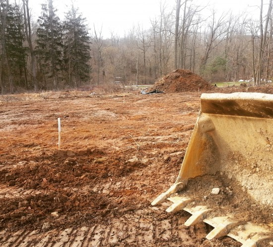 Right before we broke ground after a long and cold winter.